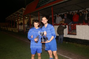Shawn Devonport and Leon Naylor present the Cup