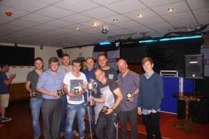 Living Hope receiving their Division 3 league medals and trophy