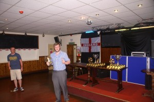 Division 3 Player of the Season award received on behalf of Pete Falconer (Living Hope Church)