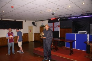 Martin Lees (Connect Sports) receiving the Division 2 Player of the Season award